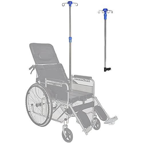 SXFYGYQ Aste Portaflebo Supporto per Sedia a Rotelle, Supporto per Infusione Speciale per Disabili, Staffa per Accessori per Sedia a Rotelle per Ospedali E Famiglie