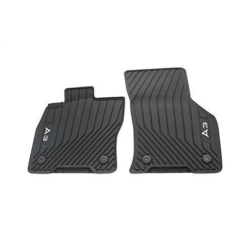 Audi 8Y1061501041 Gummi Fußmatten Allwettermatten 2X Gummimatten vorn, mit A3 Schriftzug, Nicht für Mild-Hybrid/eTFSI, schwarz