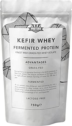 PROTERO Kefir Whey Proteine Isolate - proteine in polvere naturali e fermentate da latte di pascolo irlandese (750g)