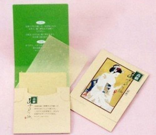 2 X Japanese Premium Oil Blotting Paper 200 Sheets (B), Large 10cm x7cm