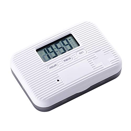 Elektronischer Pillenorganisator, kleine und tragbare kleine Pillenbox mit sechs Gittern, intelligenter Zeitschaltuhr für ältere Menschen , Feuchtigkeitswasserdicht Langlebig