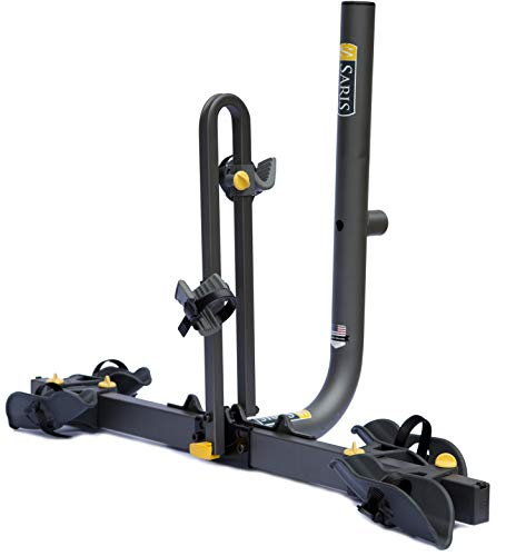 Saris Freedom Spare Tire Bike Rack Mount, 2-Bicycle Carrier, Black