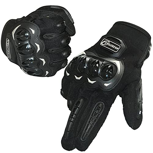 Trabig Motorradhandschuhe Herren Touchscreen mit Vollfinger Hartknöchelschutz, Sport Handschuhe Professionelle Motorrad Unisex, Sommerhandschuhe für Motorradfahren, Camping und Roller