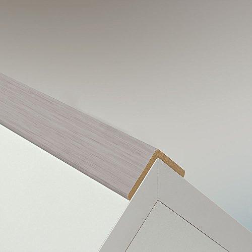 Winkelleiste Schutzwinkel Winkelprofil Tapeten-Eckleiste Abschlussleiste Abdeckleiste aus MDF in Allure Weiß 2600 x 32 x 32 mm