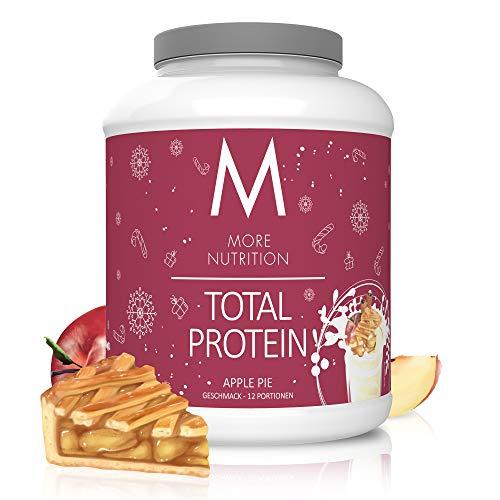 MORE NUTRITION Total Protein Eiweiß-Pulver mit Whey und Casein – 600 g Apple Pie (+ weitere Sorten) - Mit Aminosäuren und Laktase – Anti-Heißhunger, Gewichtsmanagement und Muskelaufbau
