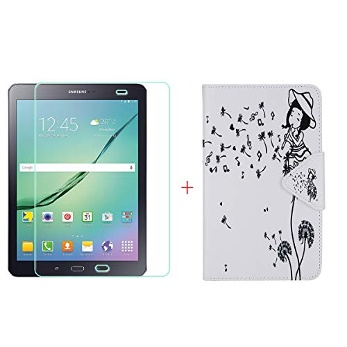 szjckj Protector de Pantalla + PU Carcasa para Samsung Galaxy Tab S2...