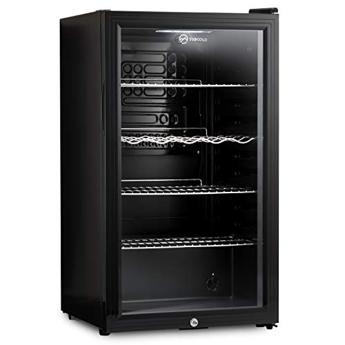 Subcold Super85 LED - Under-Counter Fridge | 85L Beer, Wine & Drinks Fridge | LED Light + Lock and Key | Energy Efficient (Black, 85L)…