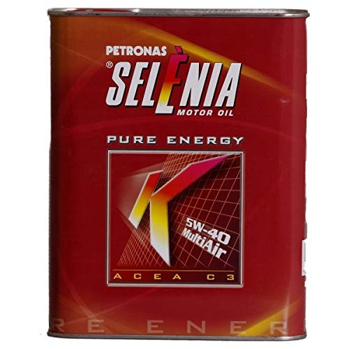OLIO SELENIA K PURE ENERGY SAE 5W-40 ACEA C3 CONFEZIONE DA 2 LITRI - PER MOTORI MULTIAIR