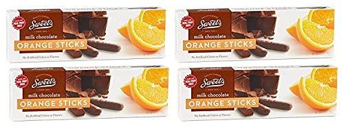 Sweets Candy Milk Chocolate Sticks, Orange, 10 Ounce