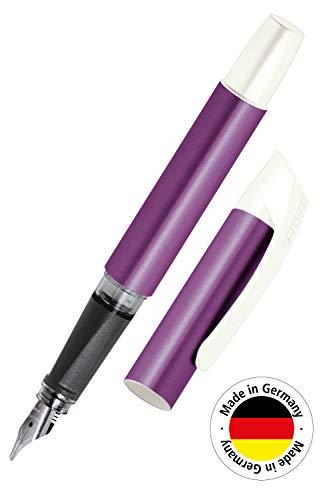 Online Campus Colour Line   Schönschreib-Füller für Rechtshänder   ergonomisches Softtouch Griffstück   Standard-Tintenpatronen   mit hochwertiger Feder   Kalligrafie-Feder 1,4 mm, Farbe lila