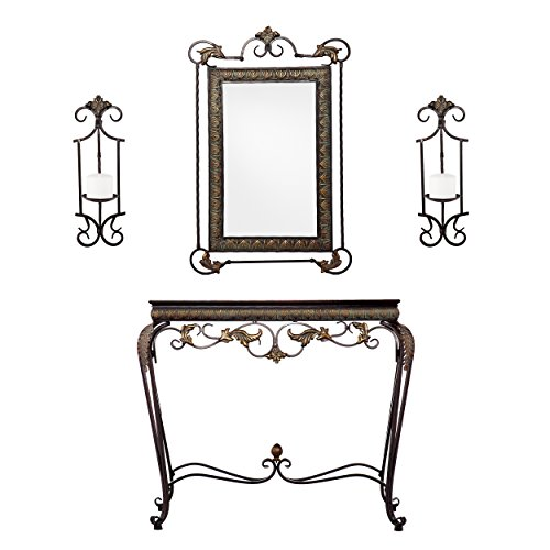 Southern Enterprises Mirror Coordination Set, Bronze