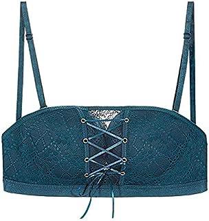 Bangqi Yangshi Seamless Sexy Bras for Women Fashion Push Up Bra Wire Free Lingerie Strapless Drawstring Bra Solid Lace Adj...