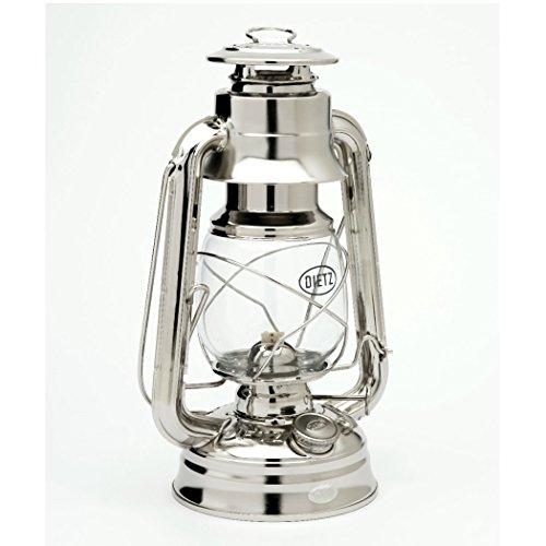 Original DIETZ Sturmlaternen-SET Petroleumlampe, vernickelt, Höhe 254 mm, mit 1 Liter Petroleum und Docht