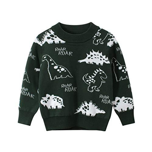 Pistachio - Jersey de punto para bebé o niña, diseño estampado, muñeco de nieve, cuello redondo, manga larga, cálido, para niños, Navidad, invierno, chicos, chicas, retro, Elfo verde M