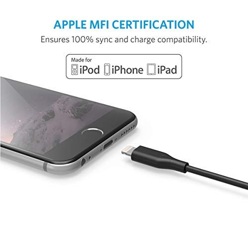 AnkerPowerLineライトニングケーブル【iPhone11/11Pro/11ProMax/XR/8/AppleMFi認証】(ブラック1.8m)
