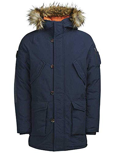 JACK & JONES Herren JORFOREST Jacket Parka, Blau (Total Eclipse), X-Large