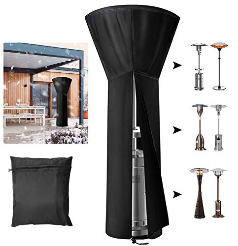 """INMORVEN Patio Heater Cover,420D PU Coating Heavy Duty Outdoor Heater Covers with Zipper and Storage Bag,Waterproof,UV-Resistant,Dust-Free,Tear Resistance,for Long Term Use. 89''x 33""""x 19"""""""