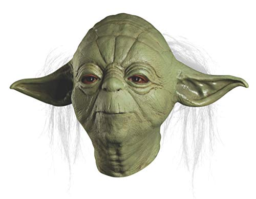 Star Wars Master Yoda Deluxe Adult Overhead Latex Mask, Green, One Size