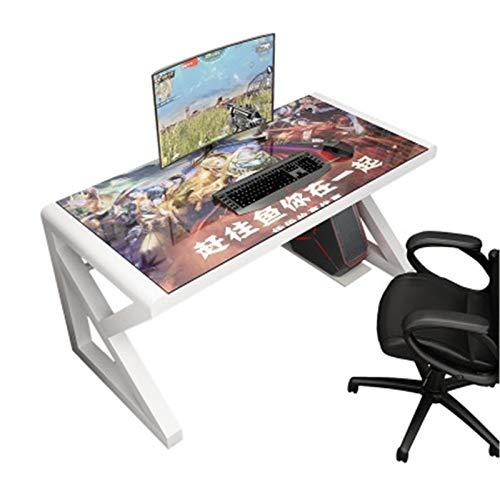 Mostrador de Juegos de PC Mesa de Escritorio de computadora Simple para Juegos de Pareja con Mesa de computadora de Doble casa Fuerte y Robusto (Color : White, Size : 140cm)