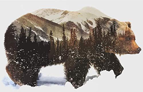 Model van het varken dat in de sneeuw loopt: 1000 delen houten puzzel, hoge kwaliteit en grote maten, een goed cadeau voor vrienden.