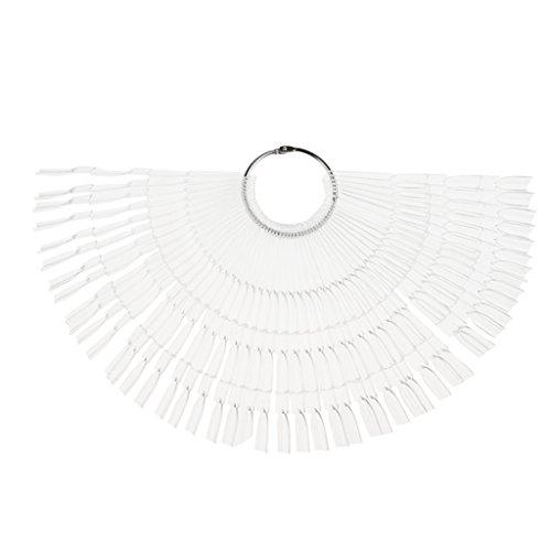 MagiDeal 50x Presentoir Eventail pour Couleurs Faux Ongles 150 Place Design Gel Vernis à Ongles Accessoire Manucure - Clair