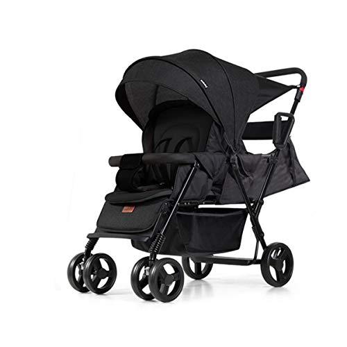 Lowest Prices! Double Stroller, Convenience Urban, Twin Carriage Stroller Tandem Collapsible, All Te...