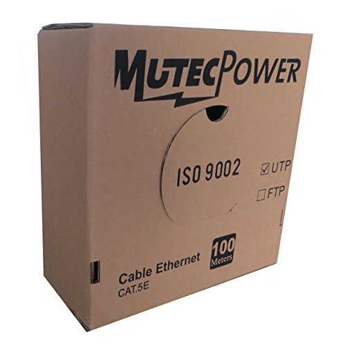 MutecPower 100 m Cable de Red ethernet Cat5E - UTP - CCA - Gris - 100 Metros