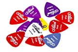 Alice Nylon Glossy Medium Guitar Picks for Acoustic Guitar and Ukulele Guitar, 36pcs of 3 Packs