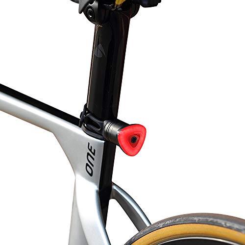 welltop Luce Posteriore Smart Bike Ultra Bright, Ricaricabili USB Luce Posteriore Rossa Impermeabile con 5 modalità di luminosità, accensione/spegnimento Automatico, rilevamento del Freno