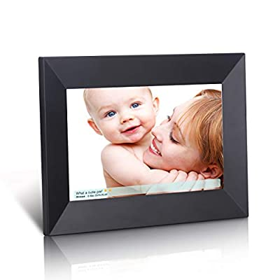 Dhwazz Digital Photo Frame, IPS HD Electronic Picture Frames with High Resolution Screen, Share Moments via USB and SD Card, Support Slideshow, Wall-Mountable