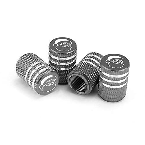 Car Tire Valve Stem Caps, 4 Pack Christmas Santa Claus Print Car Accessories,...