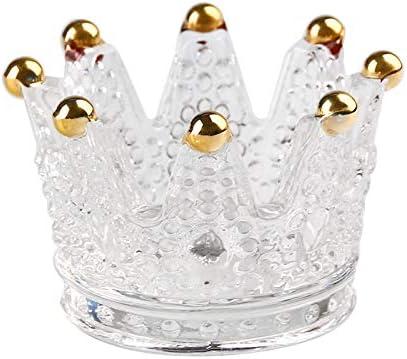 QYLLXSYY Crown Candlestick Crystal Ashtray Max 89% OFF High Cheap mail order sales Borosilicate Gla