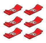 Unique Sports 12 Hot Spots Red Soccer Hot Spots Shoe Lace Cover - 6 Pair