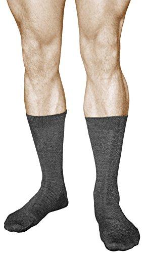 vitsocks Calcetines Lana MERINO 80% Invierno Hombre (2 PARES) Transpirables Cálidos, gris oscuro, 44-46