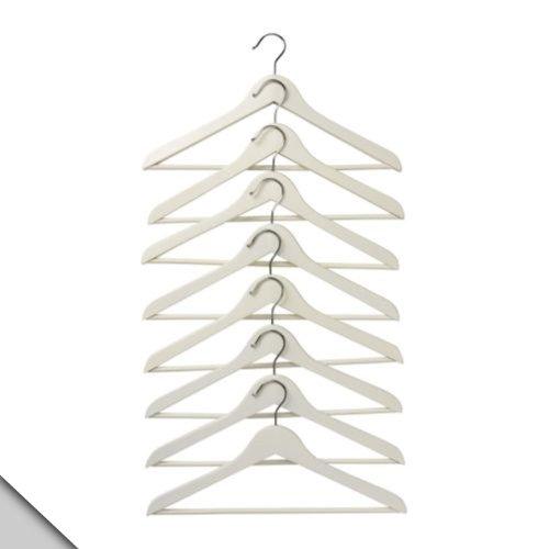 Ikea Garderobenhaken Bumerang, gebogen, Weiß, 8 Stück