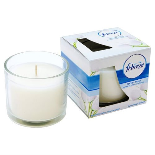 Febreze Cotton Fresh Scented Candle case of 4