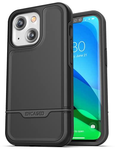 Encased Rebel Series Designed for iPhone 13 Case Protective Phone Case (Black)
