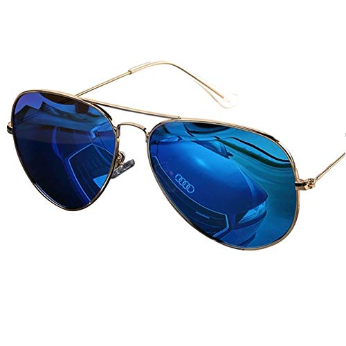 LDH Gafas de Sol Polarizadas para Hombres, Gafas de Sol De Marco de Metal Ligero para Mujeres, Gafas de Sol Al Aire Libre de Alta Definición Simple (Color : B)
