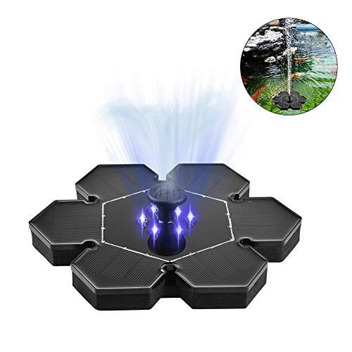 LED 2.4 Boden-Solar-Brunnenpumpe, Solarpanel-Kit Wasserpumpe, Teich-Brunnenpumpen Freistehend schwimmend für Teich, Pool, Terrasse, Aquarium, Aquarium und Garten