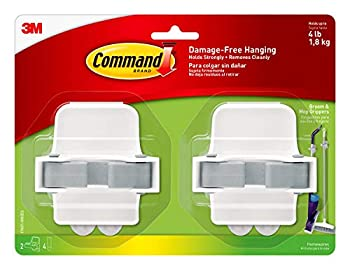 Command Broom and Mop Grippers 2-Grippers 4-Strips Organize Damage-Free