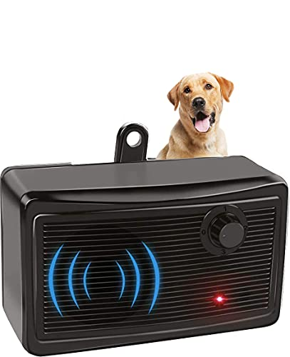 Ultrasonic Dog Barking Deterrent,2-in-1 Dog Training Tool,Waterproof Bark Box, Effective and Safe Sonic Barking Control Devices for Outdoor (Max 50 Feet) Safe to Use, Dog Silencer Dogs, Ultrasonic Pet