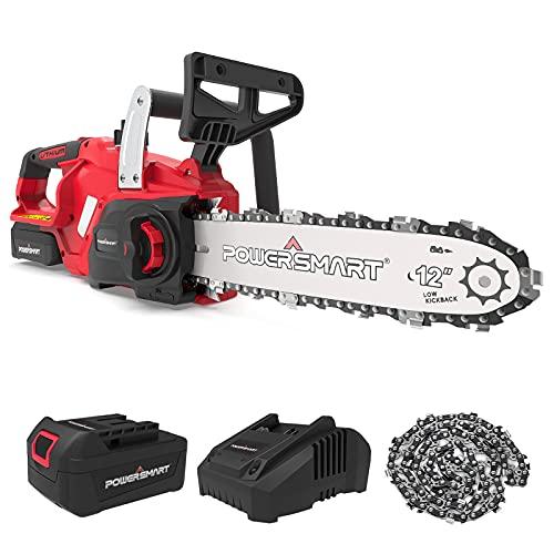 PowerSmart Chainsaw,12-Inch Cordless Chainsaw, 20V...