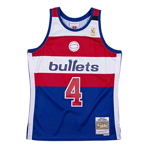 Mitchell & Ness Washington Bullets Chris Webber, Negro , medium