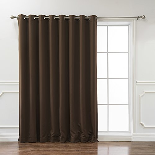 """Best Home Fashion Premium Wide Width Thermal Insulated Blackout Curtain - Antique Bronze Grommet Top - Chocolate - 100"""" W x 84"""" L - (1 Panel)"""