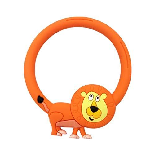 Juguete mordedor de silicona para bebé forma de pulsera redonda molde de pared de juguete de masticación de animales de dibujos animados