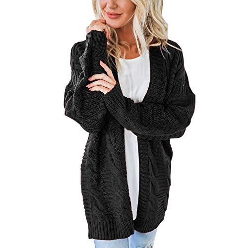 VJGOAL Damesjas, dames mode solide soft lange mouwen gebreide goederen open voorkant cardigan trui casual herfst winter bovenkleding jas