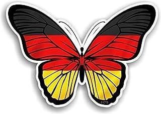 Schöner Schmetterling mit Deutscher Deutschland Land Flaggen Design Vinyl Auto Aufkleber Abziehbild 130x90mm Ca.
