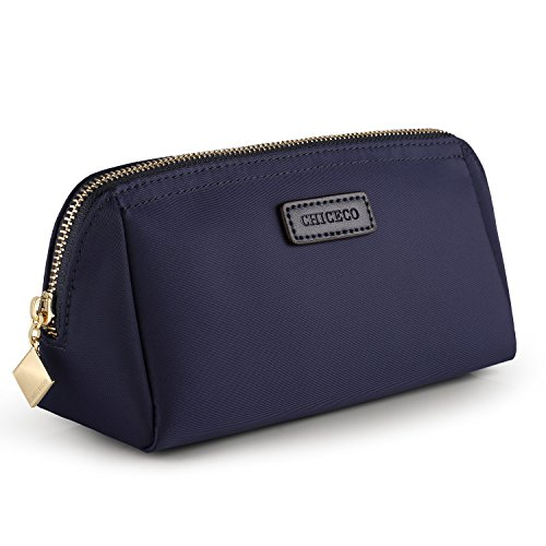 CHICECO Handy Cosmetic Pouch Clutch Makeup Bag - Navy Blue