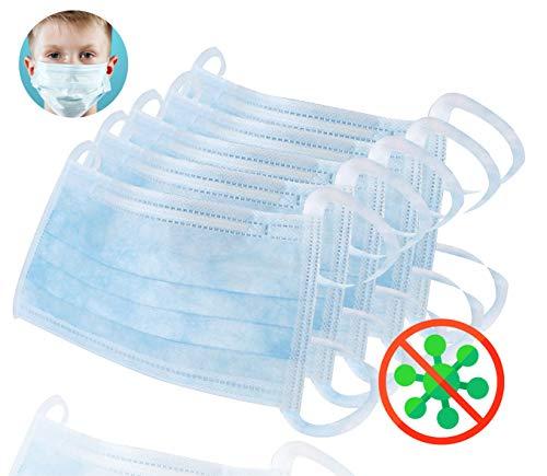 50x Mundschutz 3 lagig Hygienemaske zum Binden, Einweg Maske - universal anwendbar für Erwachsene & Kinder (50x)