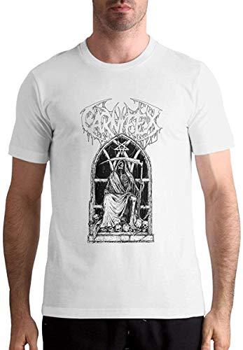 Carnifex-Riddick Reaper Men's Fashion Short Sleeve Music Band Shirts Black,White,M